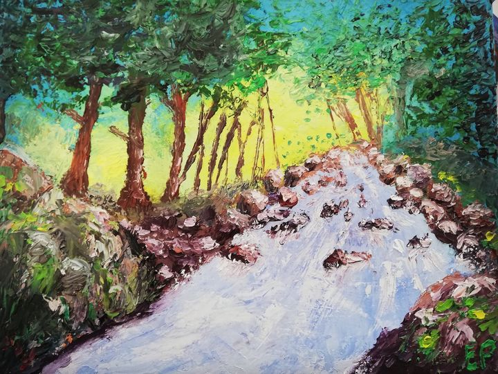 Printed forest oil painting - Elodie - landscapes