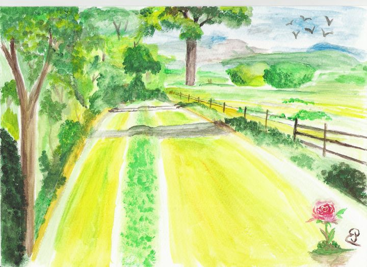 Printed countryside painting - Elodie - landscapes