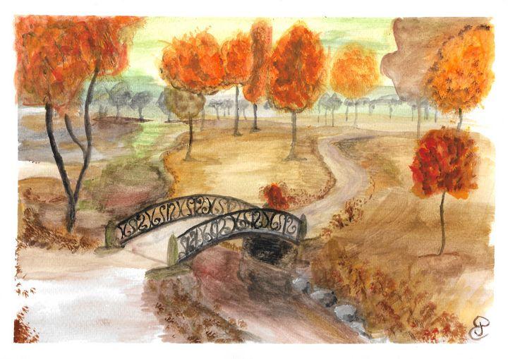 Printed autumn walk paint - Elodie - landscapes