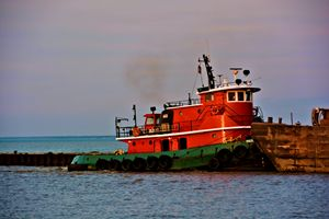 Red Tug Boat - Richard W. Jenkins Gallery
