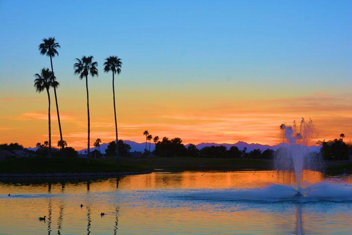 Sunset atOakwood Colf Club - Richard W. Jenkins Gallery
