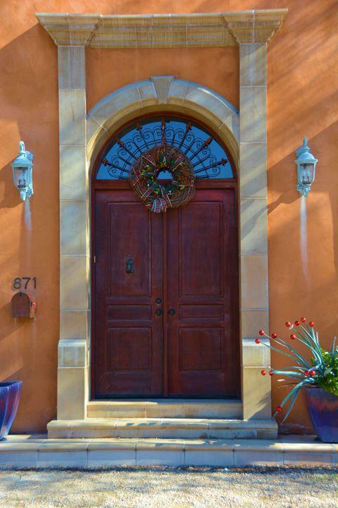 Artistic Adobe Door - Richard W. Jenkins Gallery