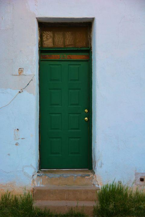 Green Adobe home - Richard W. Jenkins Gallery