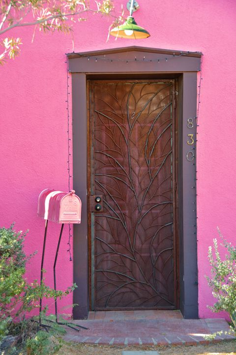 Pink Door and Mail Box - Richard W. Jenkins Gallery