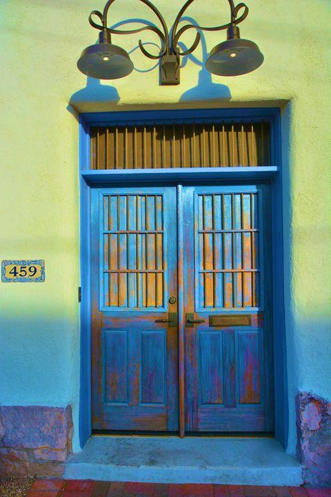 Double Blue and Iron Doors - Richard W. Jenkins Gallery