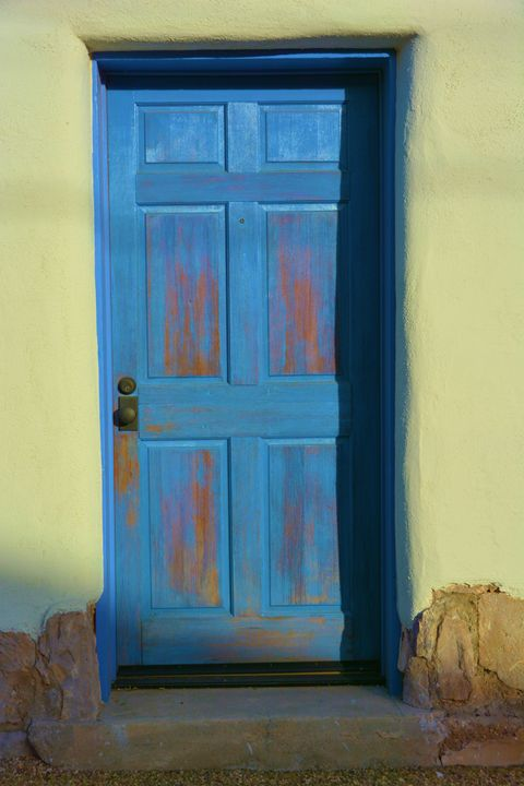 Blue Door Green Wall - Richard W. Jenkins Gallery