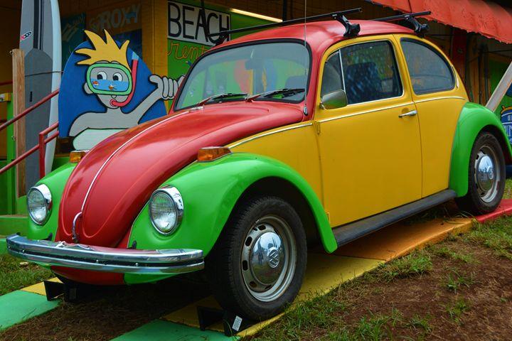 Colorful vintage VW - Richard W. Jenkins Gallery