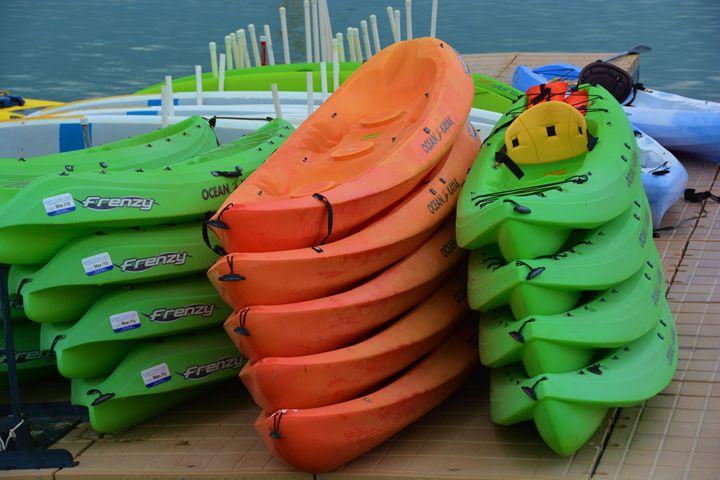Colorful Kayacks - Richard W. Jenkins Gallery