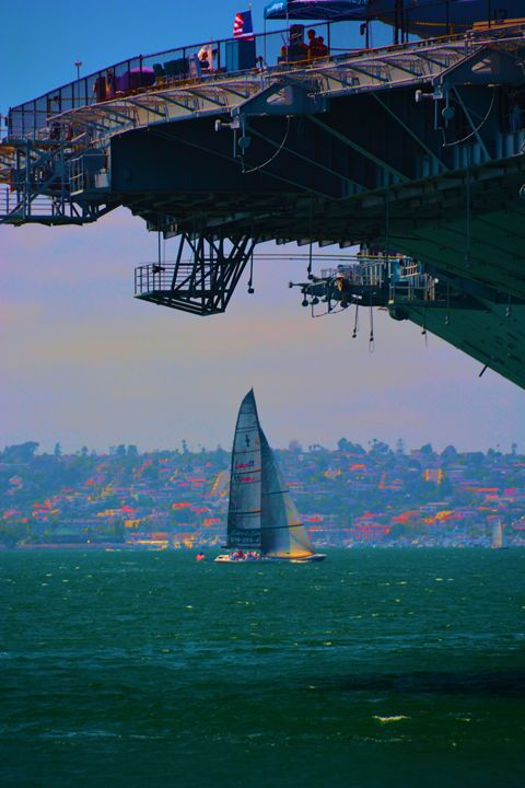 Saling By the Midway - Richard W. Jenkins Gallery