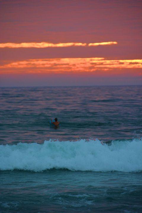 Surfer at Sunset - Richard W. Jenkins Gallery