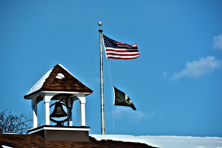 Bell Tower and Flags - Richard W. Jenkins Gallery