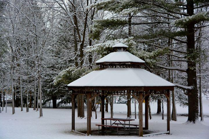 Bazebo in the Snow - Richard W. Jenkins Gallery