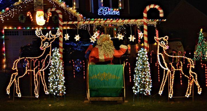 Santa in Lights - Richard W. Jenkins Gallery