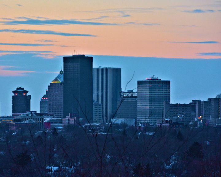 Rochester Skyline Dusk - Richard W. Jenkins Gallery