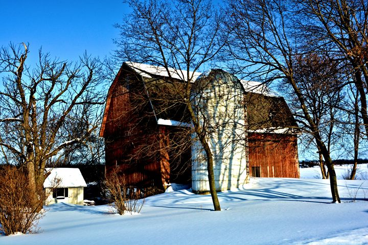 Red Barn in tghe Snow - Richard W. Jenkins Gallery