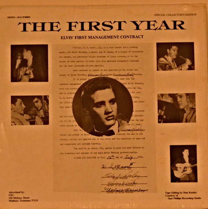 The First Year Elvis - Richard W. Jenkins Gallery