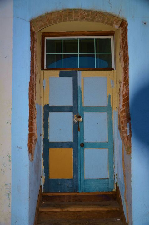 Colorful Adobe Doors - Richard W. Jenkins Gallery