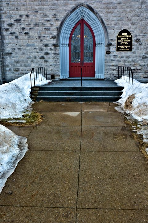 First Presbyterian Church entrance - Richard W. Jenkins Gallery