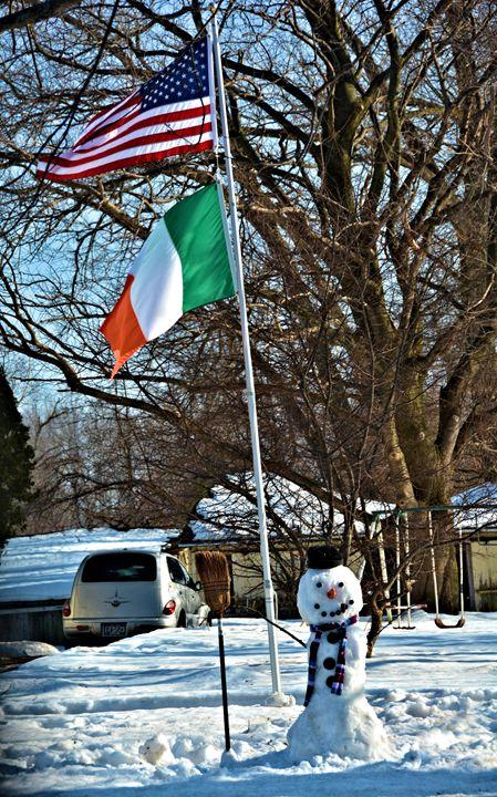 Patrioctic Snowman - Richard W. Jenkins Gallery