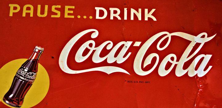 Antique Coke Sign - Richard W. Jenkins Gallery