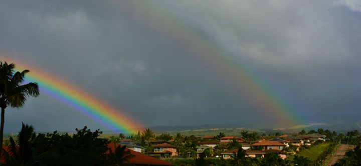 Double Rainbow on Maui - Richard W. Jenkins Gallery