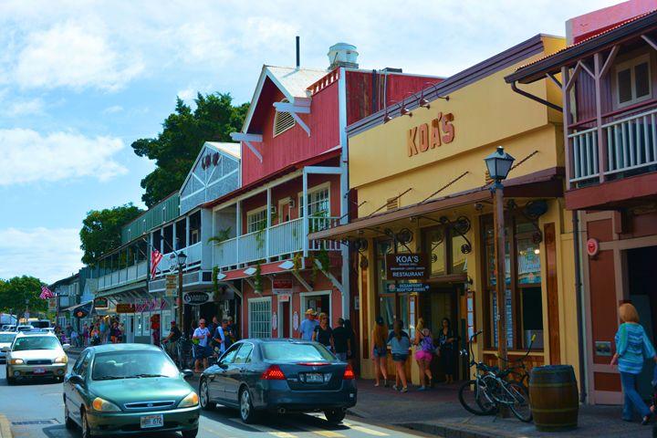 Lahaina Maui Main Street - Richard W. Jenkins Gallery