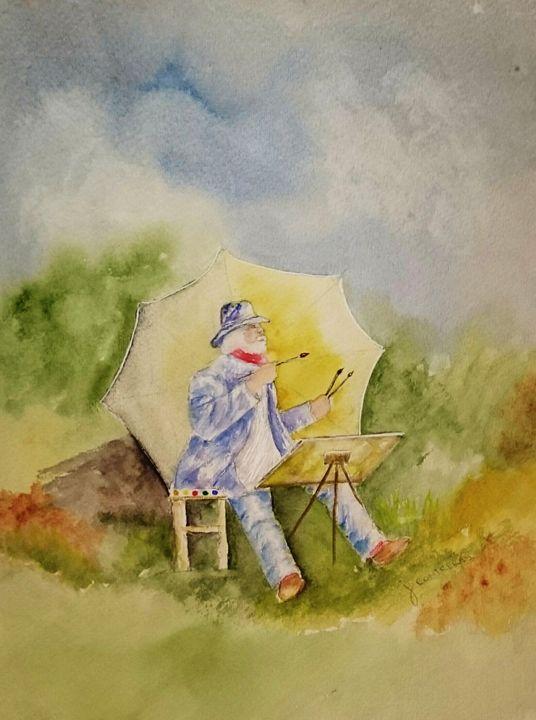 Artist painting - Janet Steiner Contreras