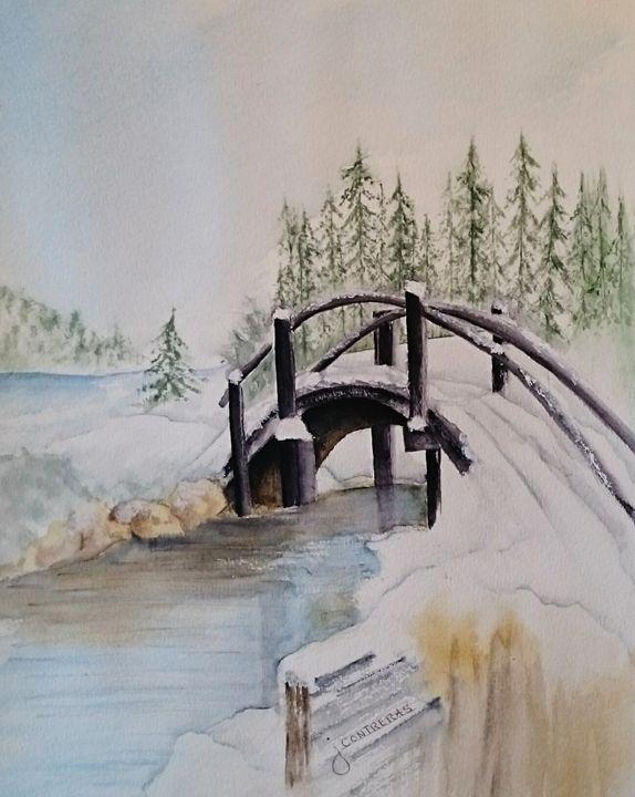 Snowy bridge - Janet Steiner Contreras