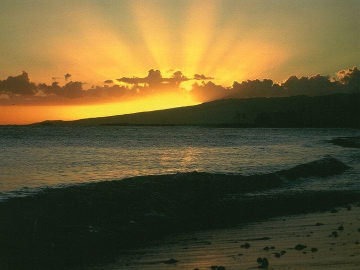 Sunset on Waikiki Beach - Carlos' Art Works