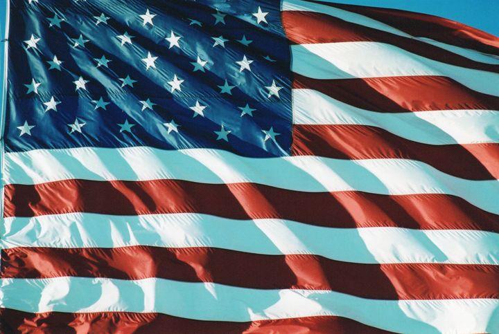 American Flag Fluttering - Carlos' Art Works