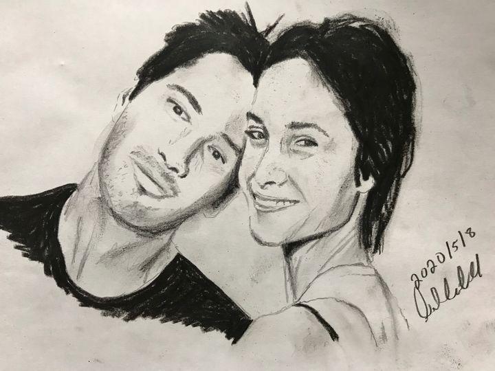 Keanu Reeves and Jennifer - David Andrew