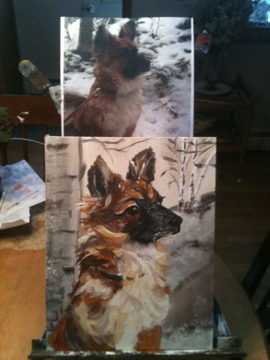 custom pet portraits - Krazy Kanvas by Susan Monika