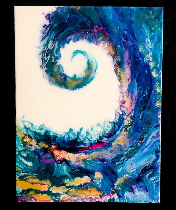 SOLD Wave of Colors - Elizabeth Hope Designs