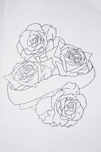 Roses and Banner