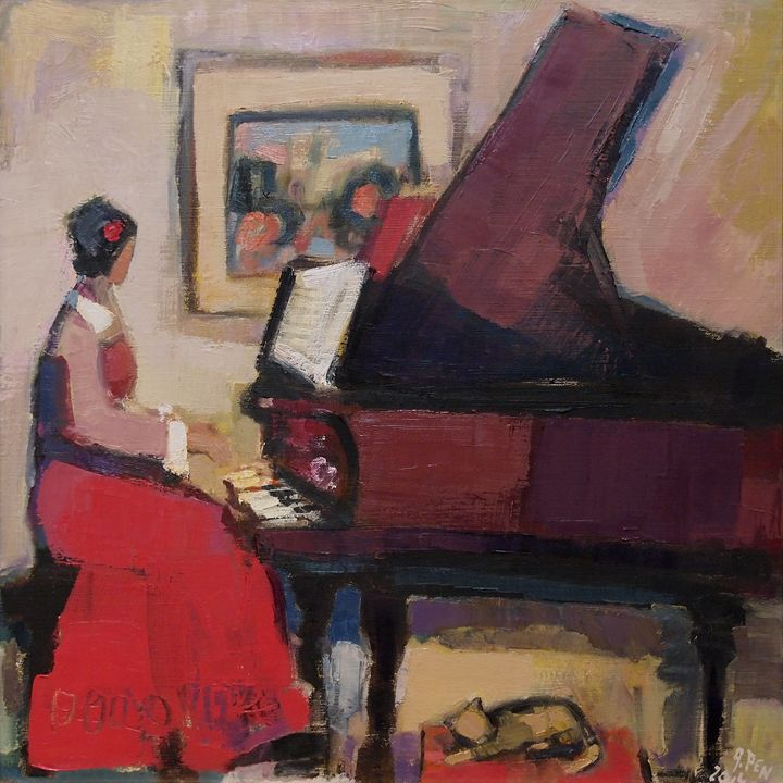 RED PIANIST III; Nr. 14.44 - Adolf Pen
