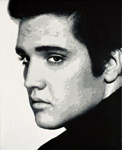 Elvis Presley, acrylics, canvas