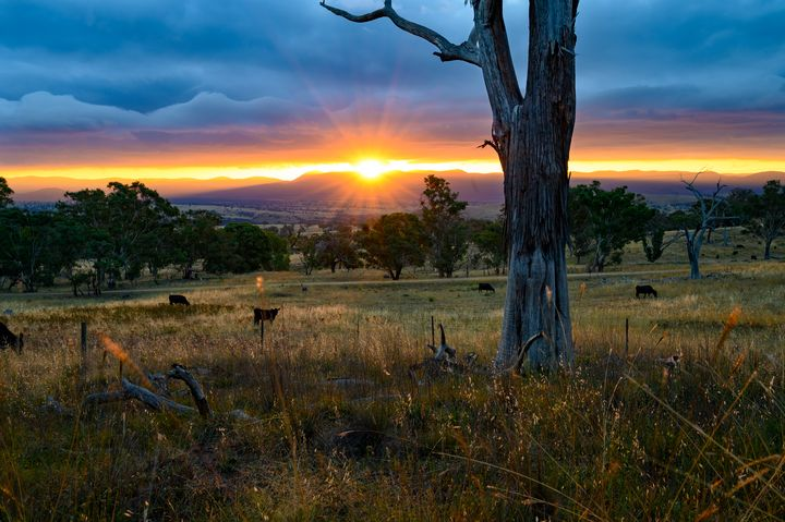 Sunset over the Brindabellas - 1 - Transchroma Photography