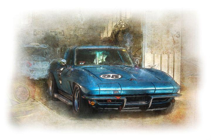Blue Corvette - Transchroma Photography