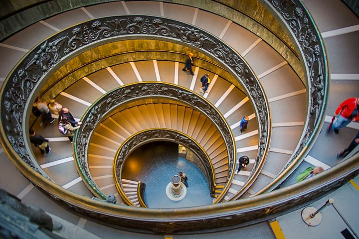Vatican Stairs - Transchroma Photography