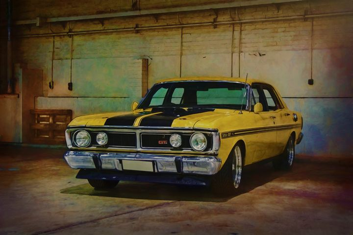 Yellow XY Ford Falcon GT - Transchroma Photography