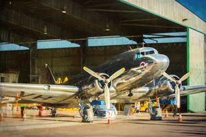 Douglas DC3 in Hangar