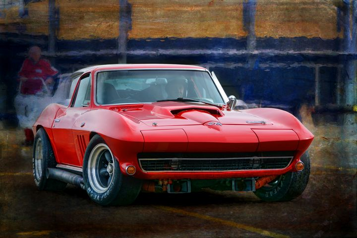 Red Corvette - Transchroma Photography
