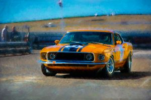 Orange Mustang - Transchroma Photography