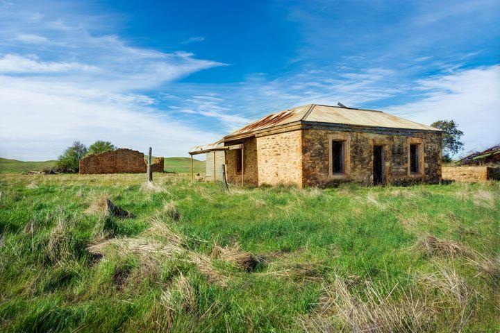 Abandoned Stone Cottage - Transchroma Photography