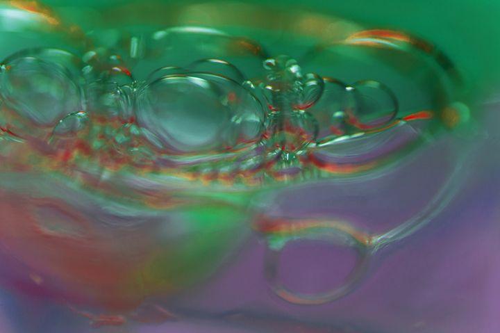 bubbles in green - S. Johnson