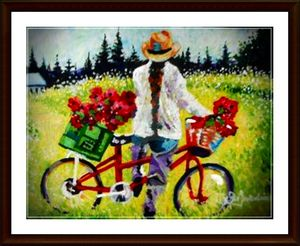 Girl On A Bike - Art by Timothy DesJardins