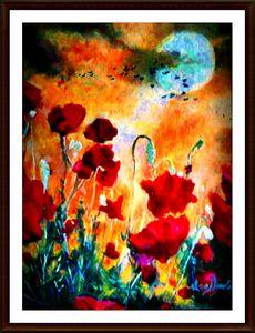 Evening Poppies - Art by Timothy DesJardins