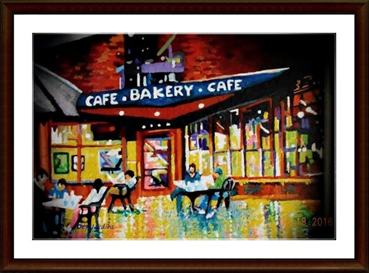 The Works Cafe - Keene, NH - Art by Timothy DesJardins