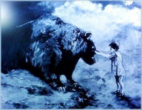 """A Child Will Tame The Beast"" - Art by Timothy DesJardins"