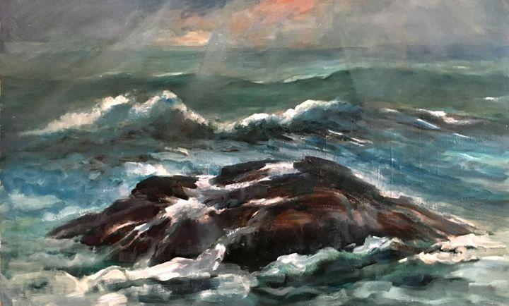 Plymouth Rock, Massachusetts - New York Art Collection | Hall Groat Sr. & II